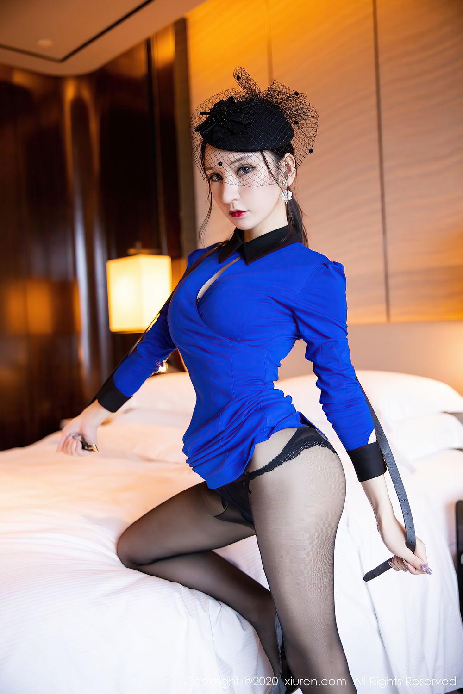 [XiuRen] Vol.2415 Zhou Yu Xi 37P, Black Silk, Underwear, Uniform, Xiuren, Zhou Yu Xi