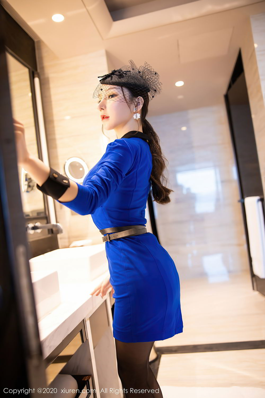 [XiuRen] Vol.2415 Zhou Yu Xi 3P, Black Silk, Underwear, Uniform, Xiuren, Zhou Yu Xi