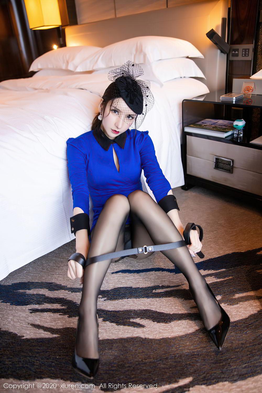 [XiuRen] Vol.2415 Zhou Yu Xi 40P, Black Silk, Underwear, Uniform, Xiuren, Zhou Yu Xi