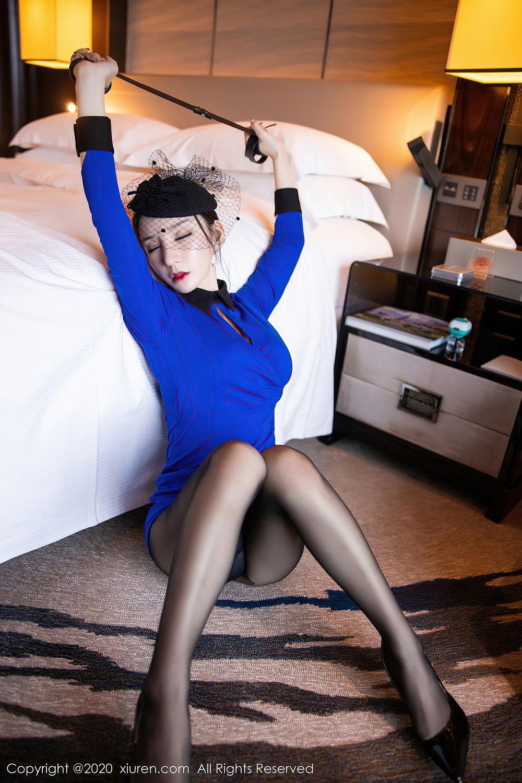 [XiuRen] Vol.2415 Zhou Yu Xi 41P, Black Silk, Underwear, Uniform, Xiuren, Zhou Yu Xi