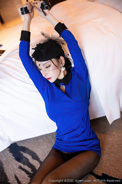 [XiuRen] Vol.2415 Zhou Yu Xi 45P, Black Silk, Underwear, Uniform, Xiuren, Zhou Yu Xi