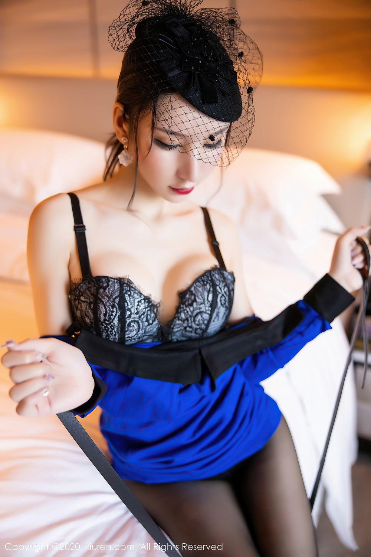 [XiuRen] Vol.2415 Zhou Yu Xi 49P, Black Silk, Underwear, Uniform, Xiuren, Zhou Yu Xi