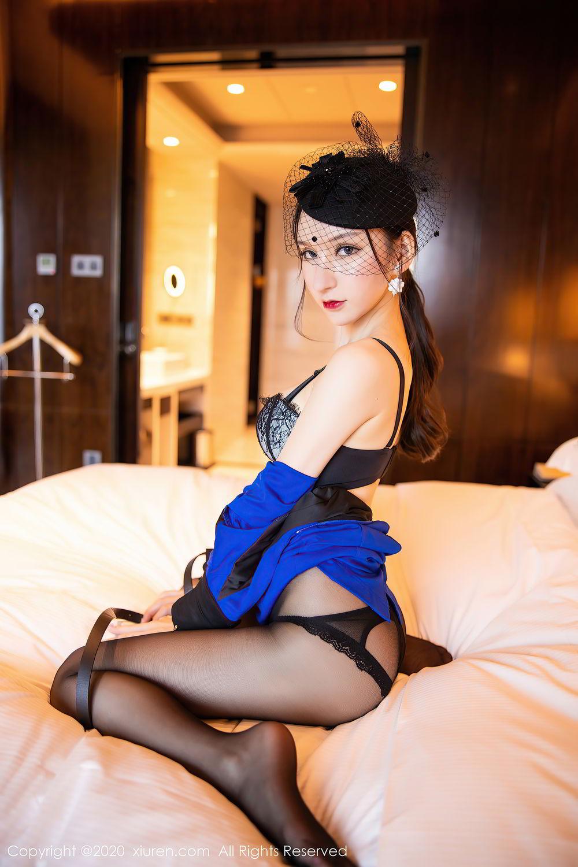 [XiuRen] Vol.2415 Zhou Yu Xi 54P, Black Silk, Underwear, Uniform, Xiuren, Zhou Yu Xi
