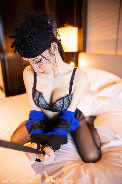 [XiuRen] Vol.2415 Zhou Yu Xi 55P, Black Silk, Underwear, Uniform, Xiuren, Zhou Yu Xi