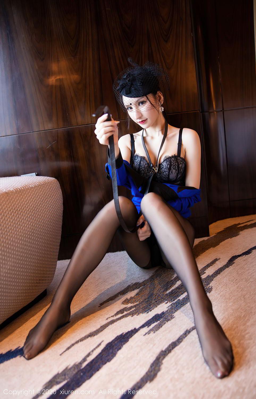 [XiuRen] Vol.2415 Zhou Yu Xi 66P, Black Silk, Underwear, Uniform, Xiuren, Zhou Yu Xi