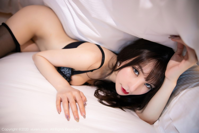 [XiuRen] Vol.2415 Zhou Yu Xi 77P, Black Silk, Underwear, Uniform, Xiuren, Zhou Yu Xi