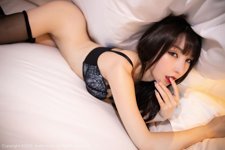 [XiuRen] Vol.2415 Zhou Yu Xi 79P, Black Silk, Underwear, Uniform, Xiuren, Zhou Yu Xi