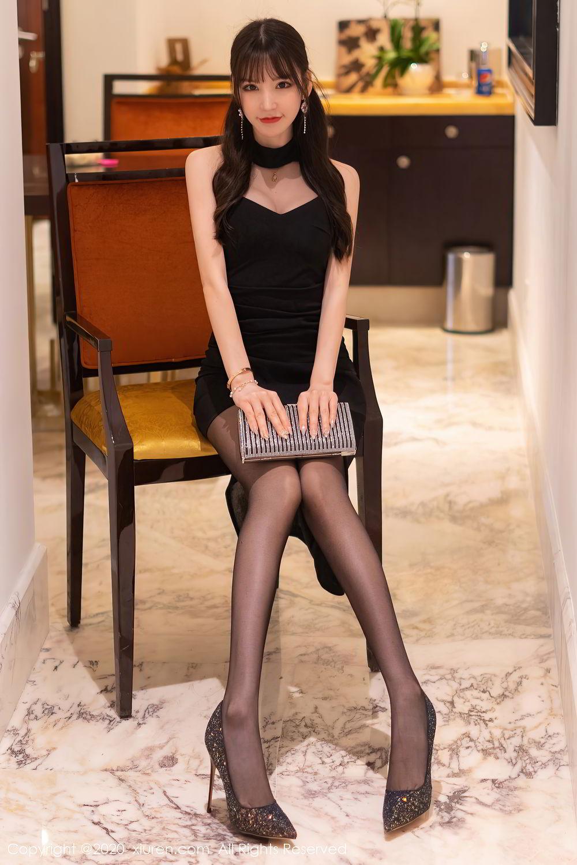 [XiuRen] Vol.2418 Zhou Yu Xi 13P, Black Silk, Tall, Underwear, Xiuren, Zhou Yu Xi