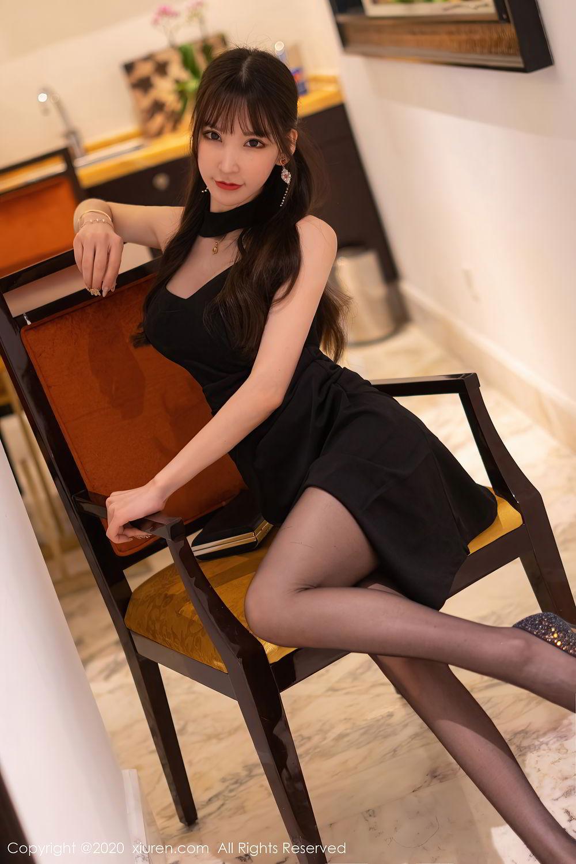 [XiuRen] Vol.2418 Zhou Yu Xi 14P, Black Silk, Tall, Underwear, Xiuren, Zhou Yu Xi