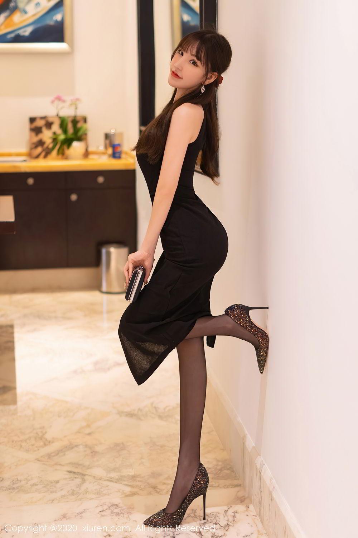 [XiuRen] Vol.2418 Zhou Yu Xi 2P, Black Silk, Tall, Underwear, Xiuren, Zhou Yu Xi