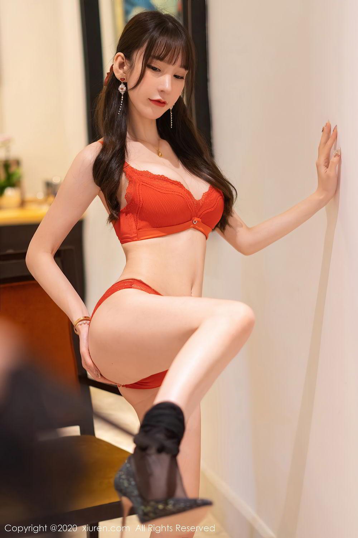 [XiuRen] Vol.2418 Zhou Yu Xi 53P, Black Silk, Tall, Underwear, Xiuren, Zhou Yu Xi