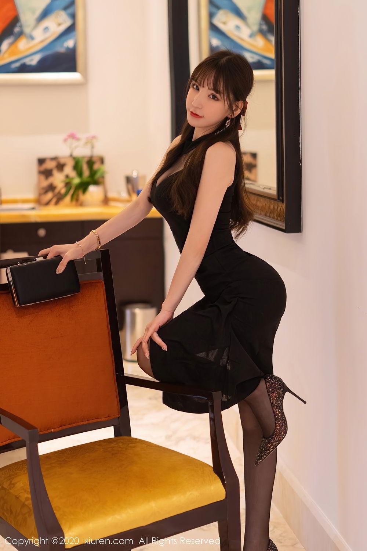 [XiuRen] Vol.2418 Zhou Yu Xi 8P, Black Silk, Tall, Underwear, Xiuren, Zhou Yu Xi