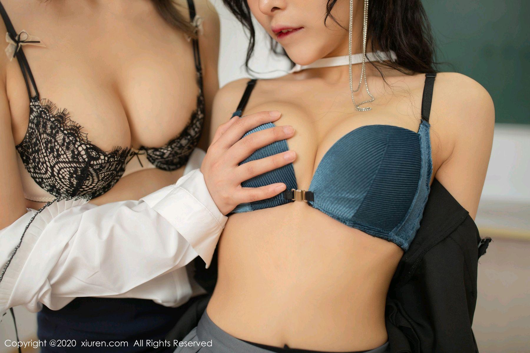 [XiuRen] Vol.2420 Chen Xiao Miao and Lu Xuan Xuan 56P, Chen Xiao Miao, Lu Xuan Xuan, School Uniform, Sisters, Xiuren