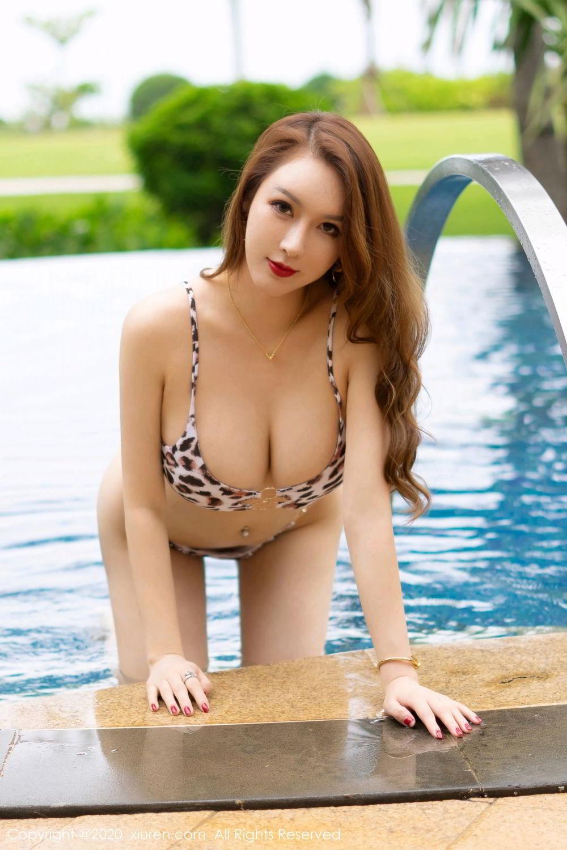 [XiuRen] Vol.2425 Egg Younisi 15P, Bikini, Egg Younisi, Mature, Swim Pool, Xiuren