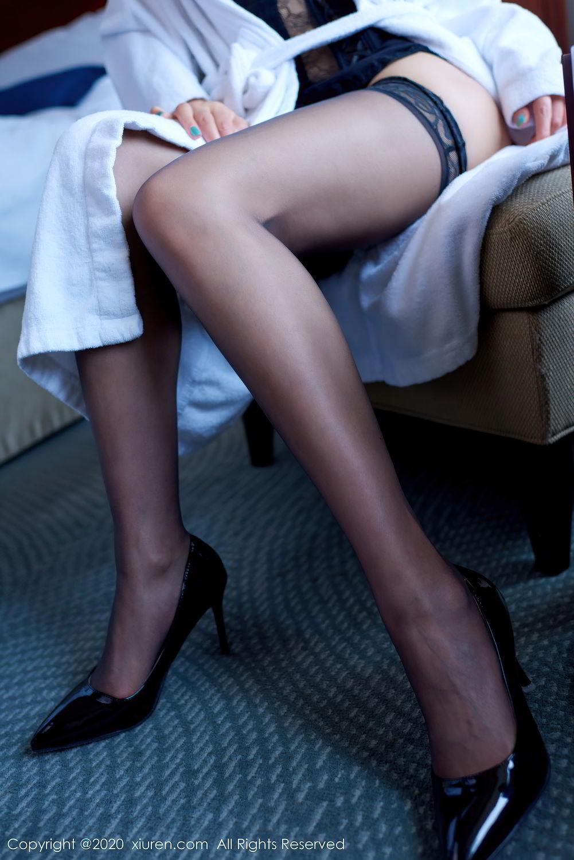 [XiuRen] Vol.2427 Fang Zi Xuan 12P, Black Silk, Mu Qing, Sexy, Underwear, Xiuren