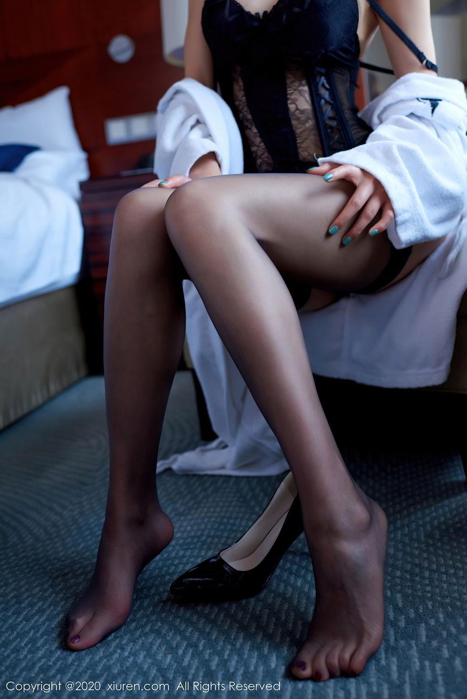 [XiuRen] Vol.2427 Fang Zi Xuan 27P, Black Silk, Mu Qing, Sexy, Underwear, Xiuren