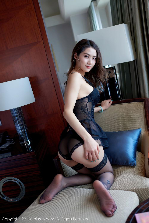 [XiuRen] Vol.2427 Fang Zi Xuan 30P, Black Silk, Mu Qing, Sexy, Underwear, Xiuren