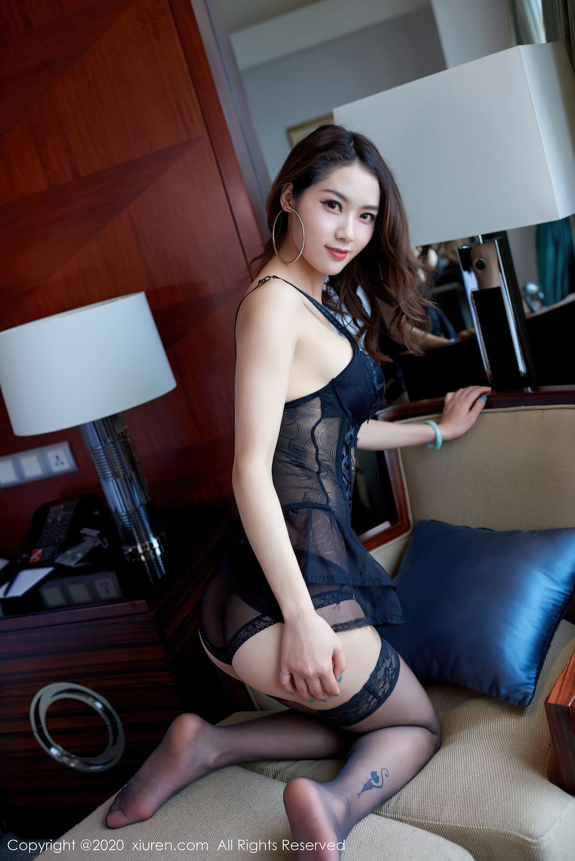 [XiuRen] Vol.2427 Fang Zi Xuan 31P, Black Silk, Mu Qing, Sexy, Underwear, Xiuren
