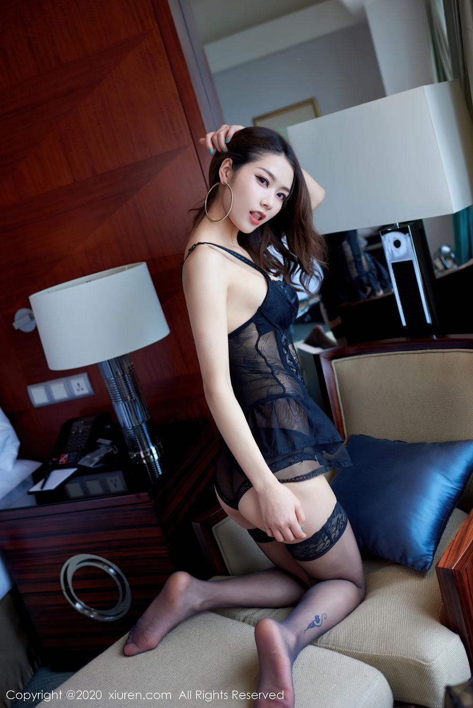 [XiuRen] Vol.2427 Fang Zi Xuan 32P, Black Silk, Mu Qing, Sexy, Underwear, Xiuren