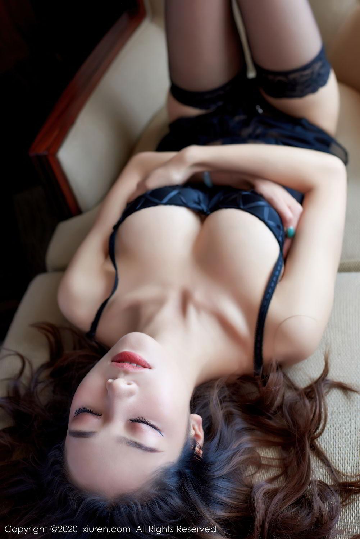 [XiuRen] Vol.2427 Fang Zi Xuan 34P, Black Silk, Mu Qing, Sexy, Underwear, Xiuren