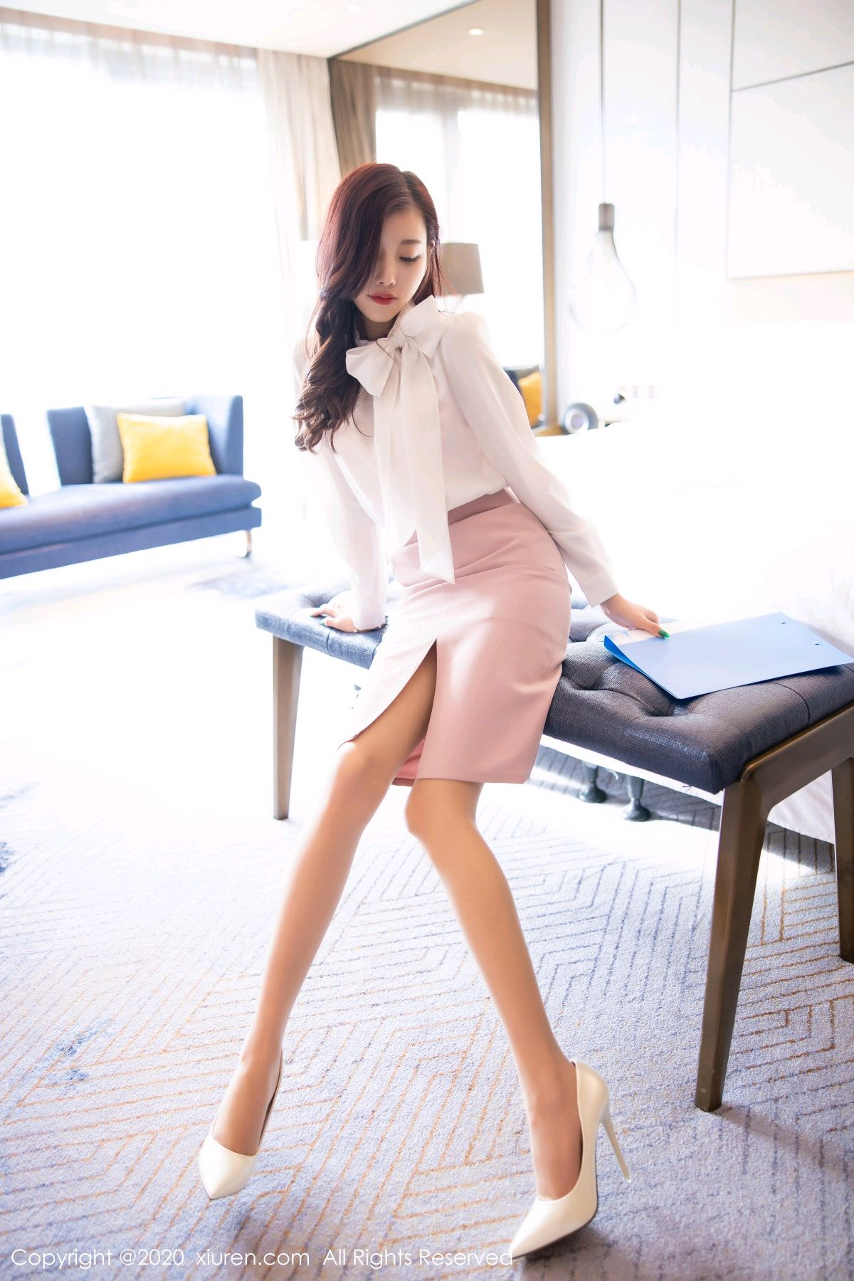 [XiuRen] Vol.2431 Yang Chen Chen 10P, Tall, Underwear, Uniform, Xiuren, Yang Chen Chen