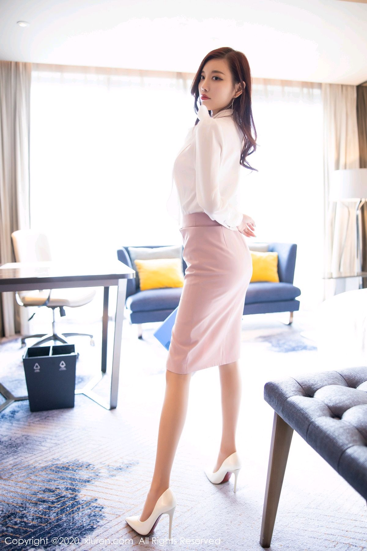 [XiuRen] Vol.2431 Yang Chen Chen 13P, Tall, Underwear, Uniform, Xiuren, Yang Chen Chen