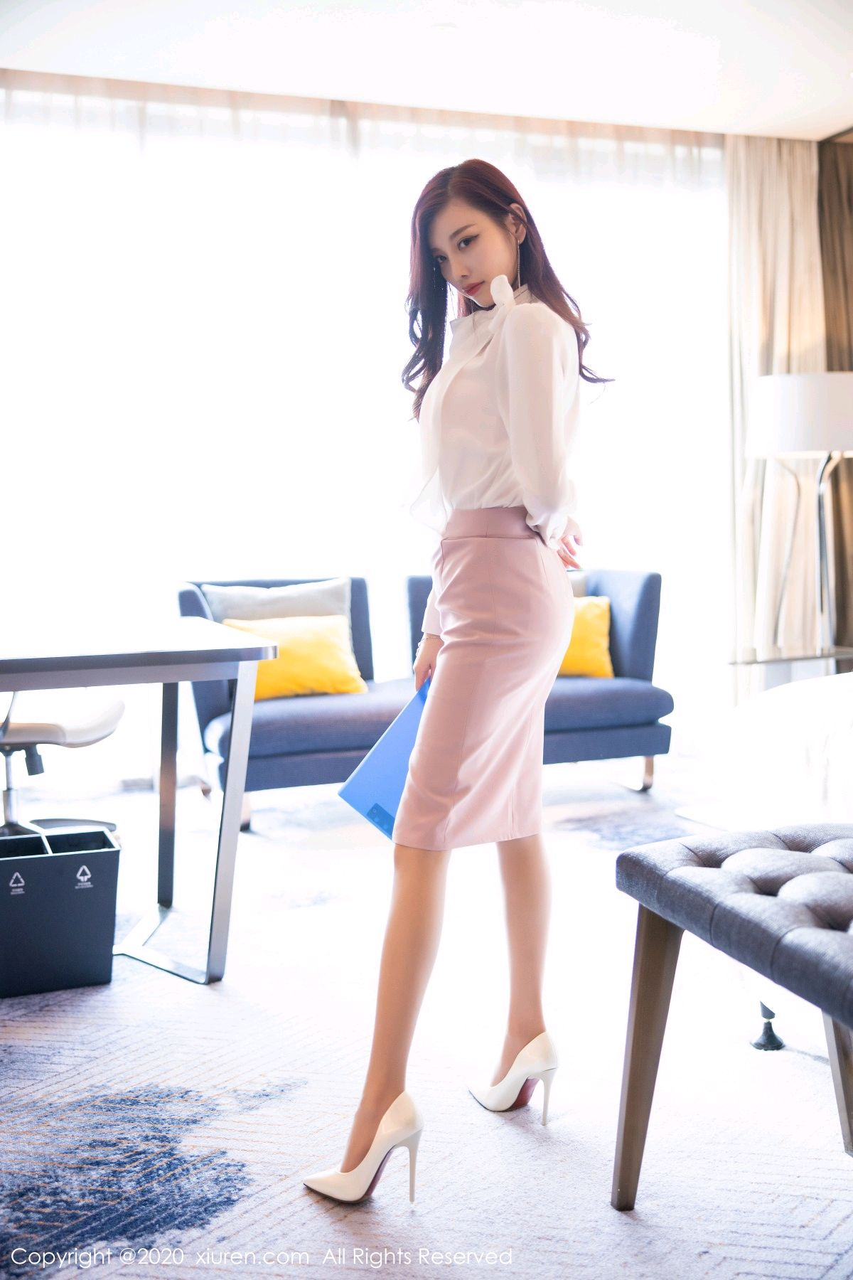 [XiuRen] Vol.2431 Yang Chen Chen 14P, Tall, Underwear, Uniform, Xiuren, Yang Chen Chen