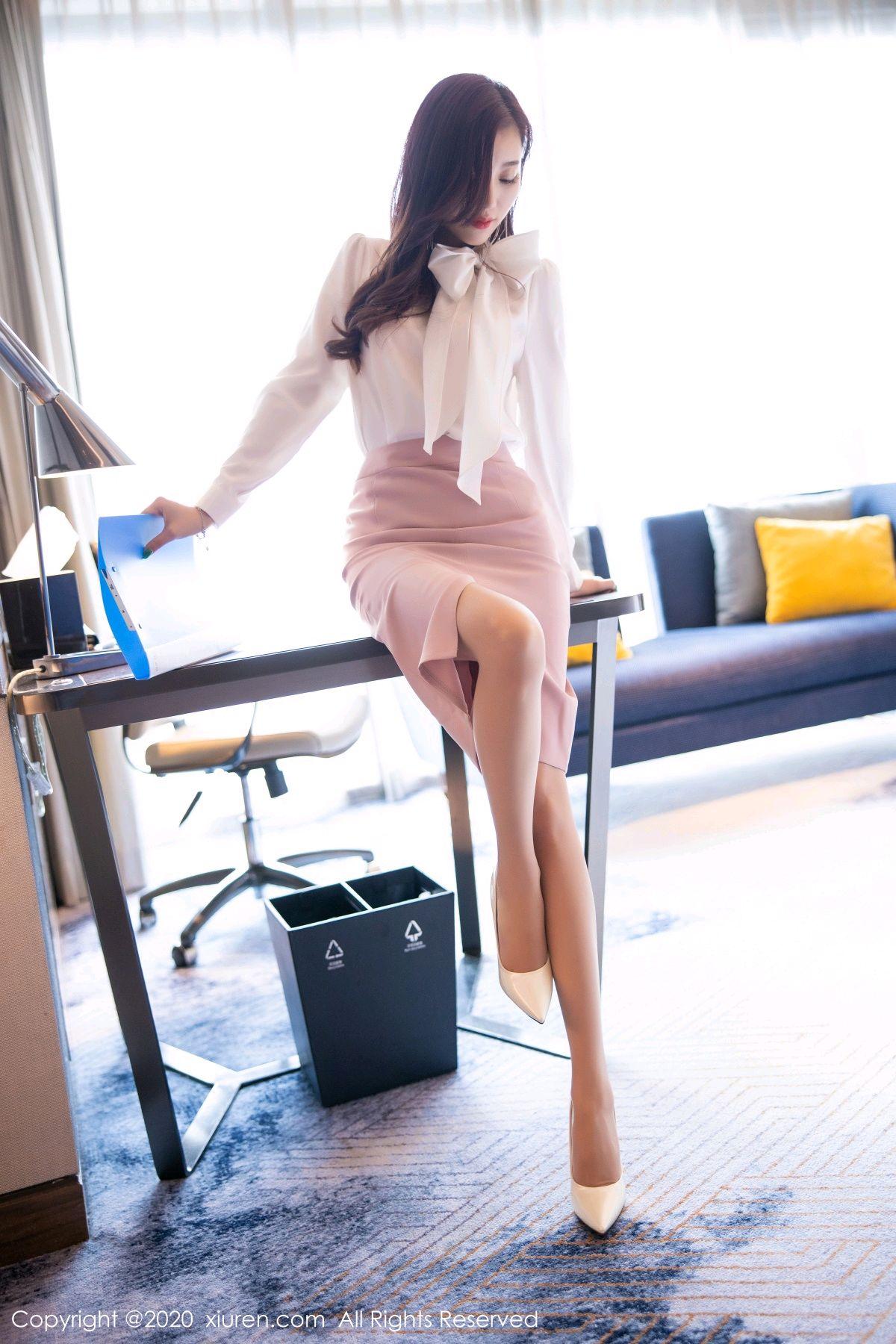 [XiuRen] Vol.2431 Yang Chen Chen 16P, Tall, Underwear, Uniform, Xiuren, Yang Chen Chen