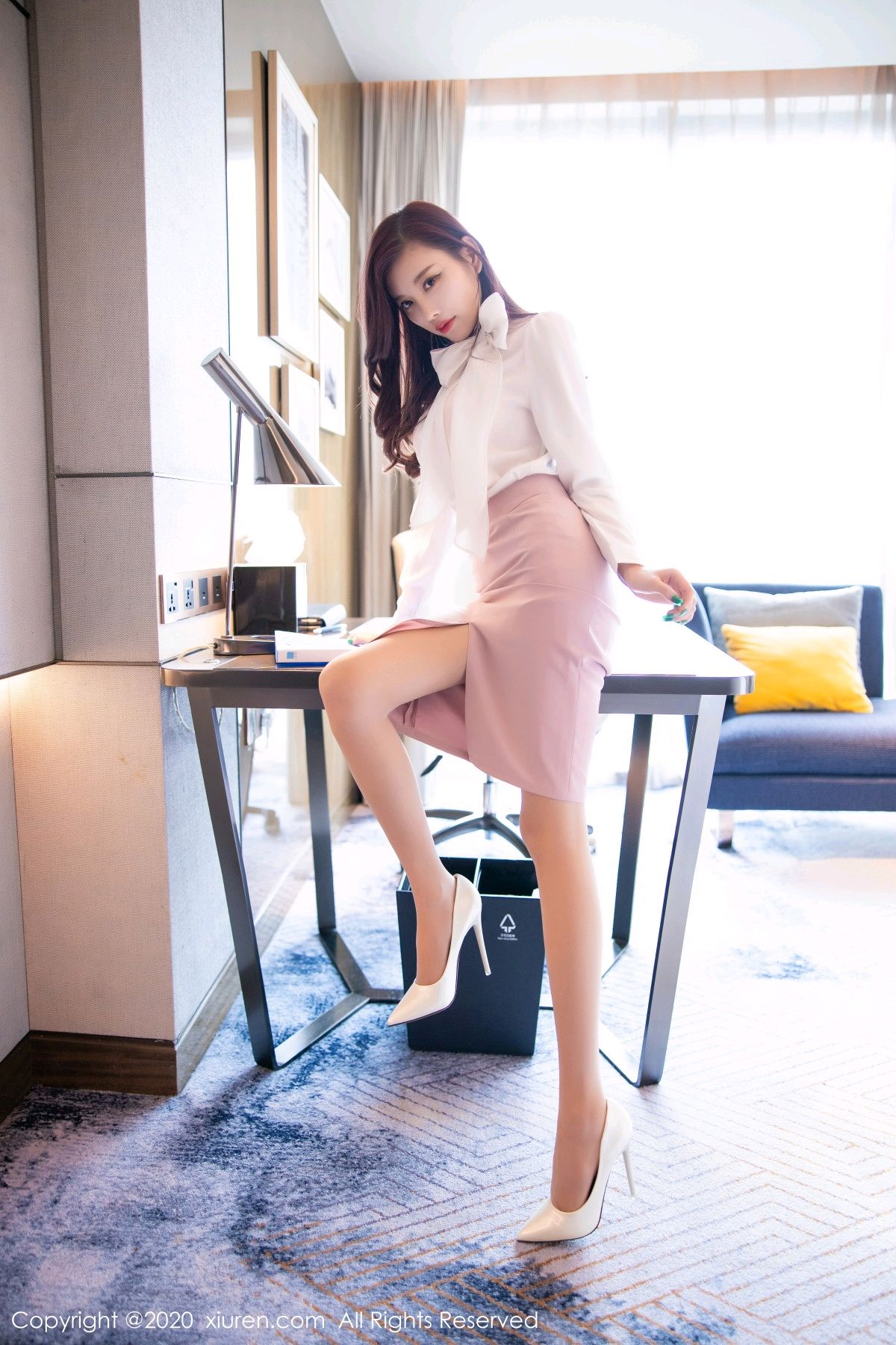 [XiuRen] Vol.2431 Yang Chen Chen 17P, Tall, Underwear, Uniform, Xiuren, Yang Chen Chen