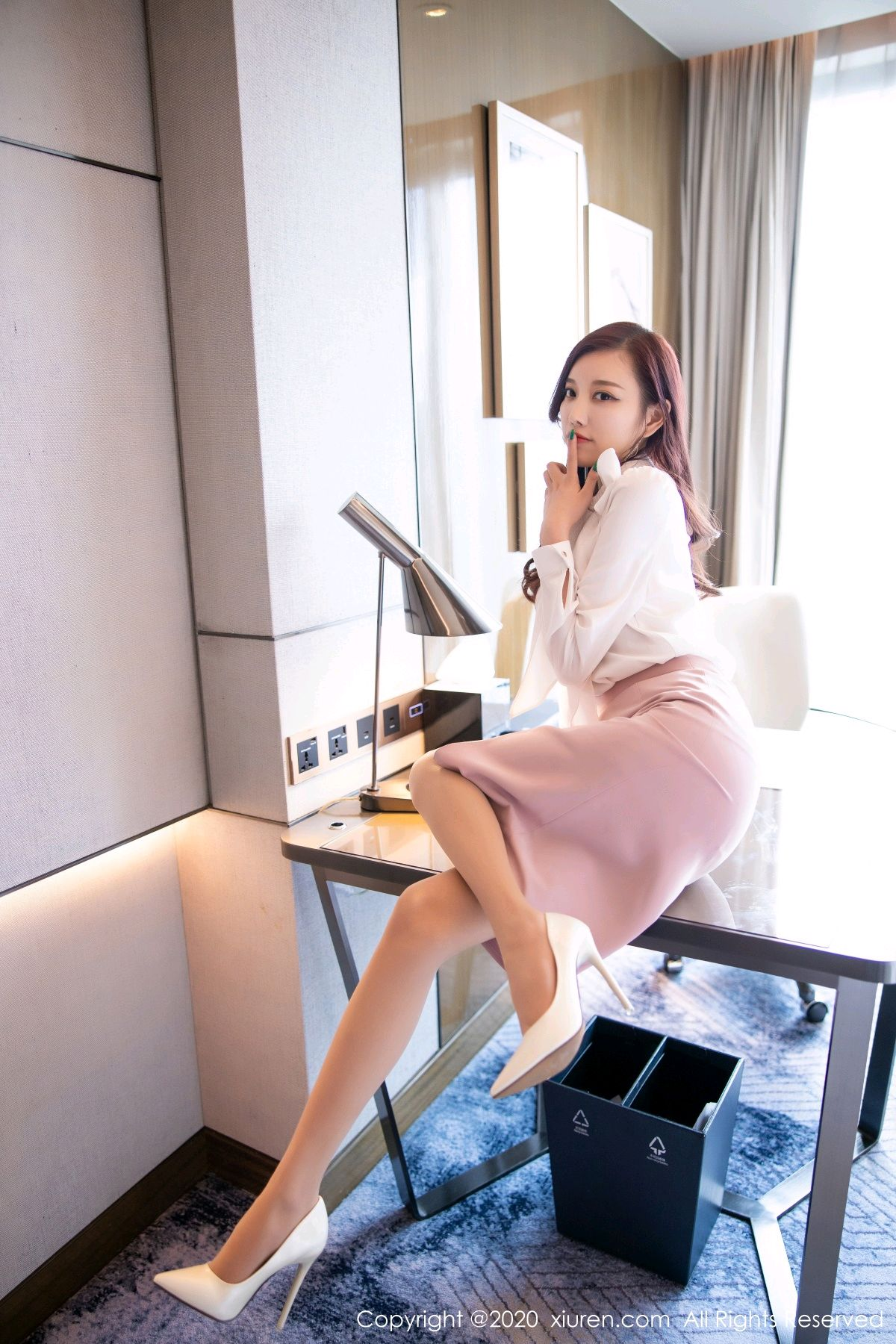 [XiuRen] Vol.2431 Yang Chen Chen 19P, Tall, Underwear, Uniform, Xiuren, Yang Chen Chen