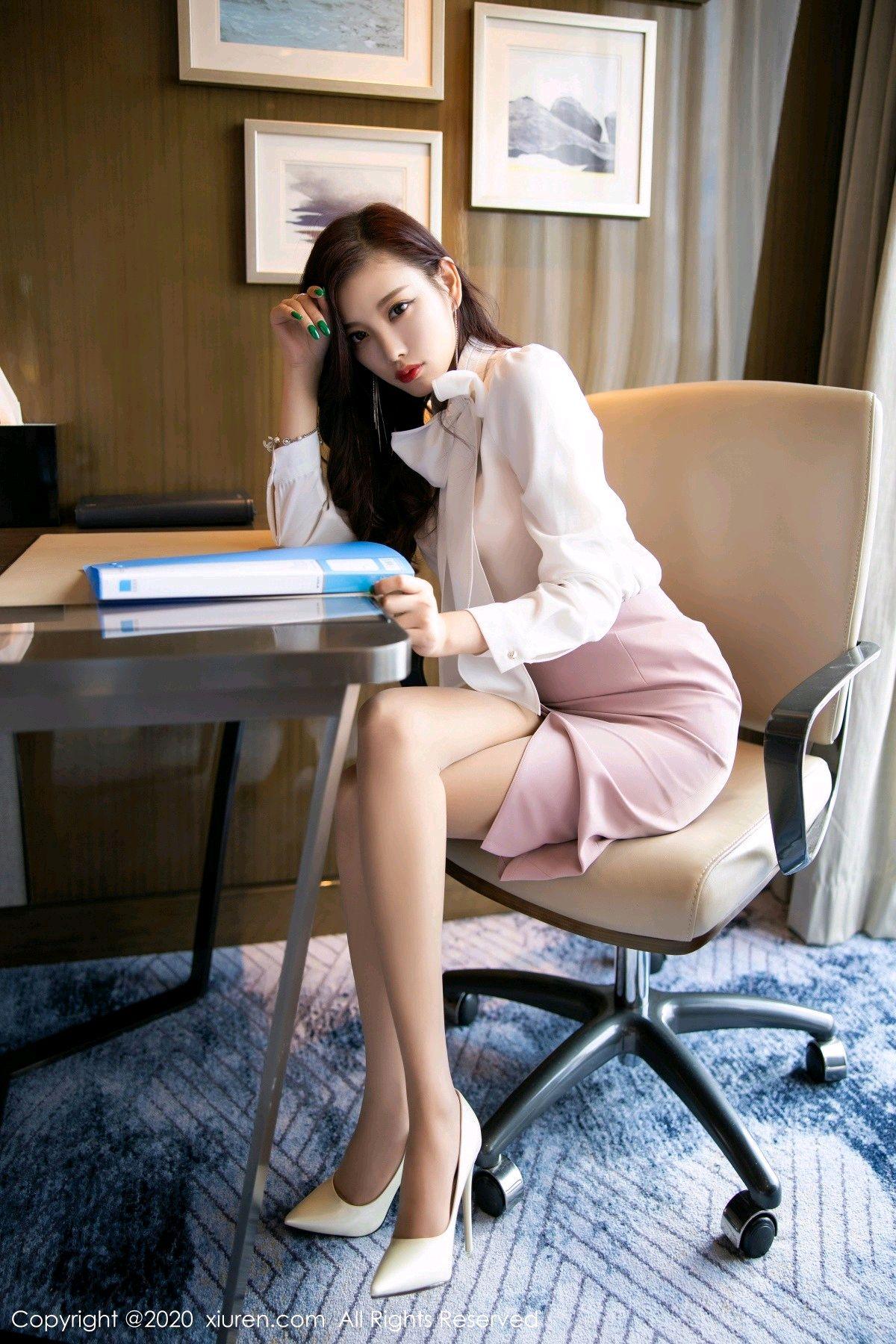 [XiuRen] Vol.2431 Yang Chen Chen 1P, Tall, Underwear, Uniform, Xiuren, Yang Chen Chen