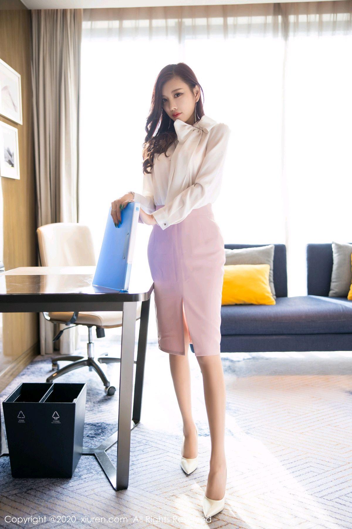 [XiuRen] Vol.2431 Yang Chen Chen 2P, Tall, Underwear, Uniform, Xiuren, Yang Chen Chen