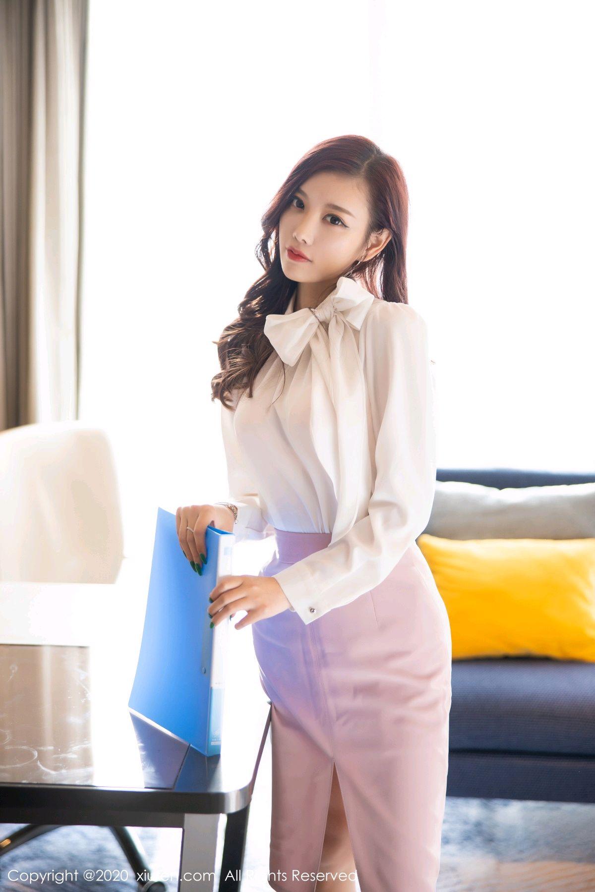 [XiuRen] Vol.2431 Yang Chen Chen 3P, Tall, Underwear, Uniform, Xiuren, Yang Chen Chen