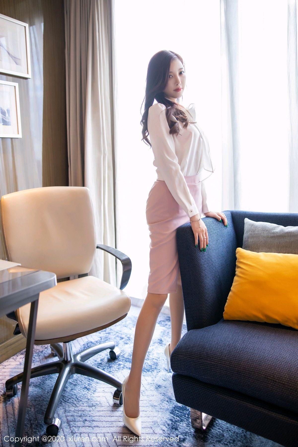 [XiuRen] Vol.2431 Yang Chen Chen 44P, Tall, Underwear, Uniform, Xiuren, Yang Chen Chen