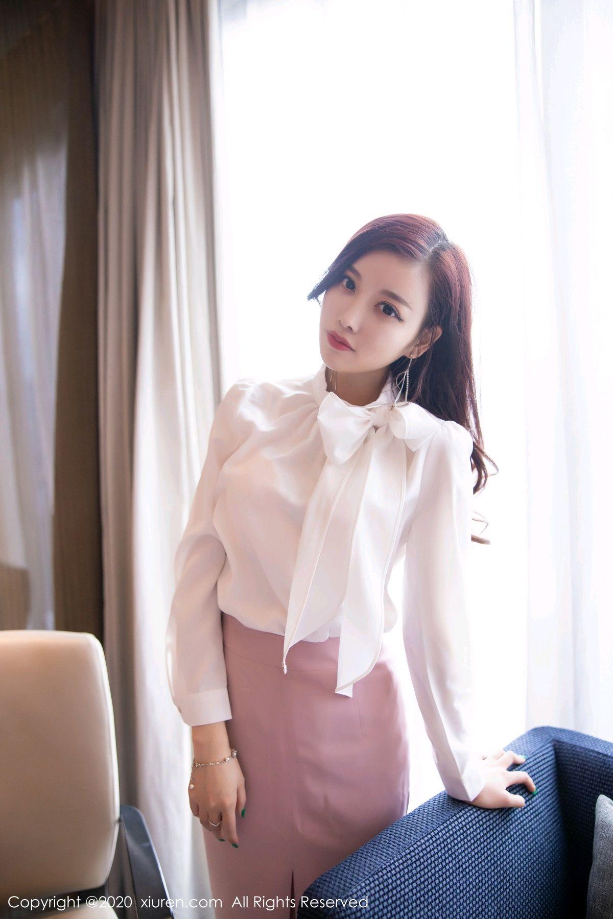 [XiuRen] Vol.2431 Yang Chen Chen 45P, Tall, Underwear, Uniform, Xiuren, Yang Chen Chen
