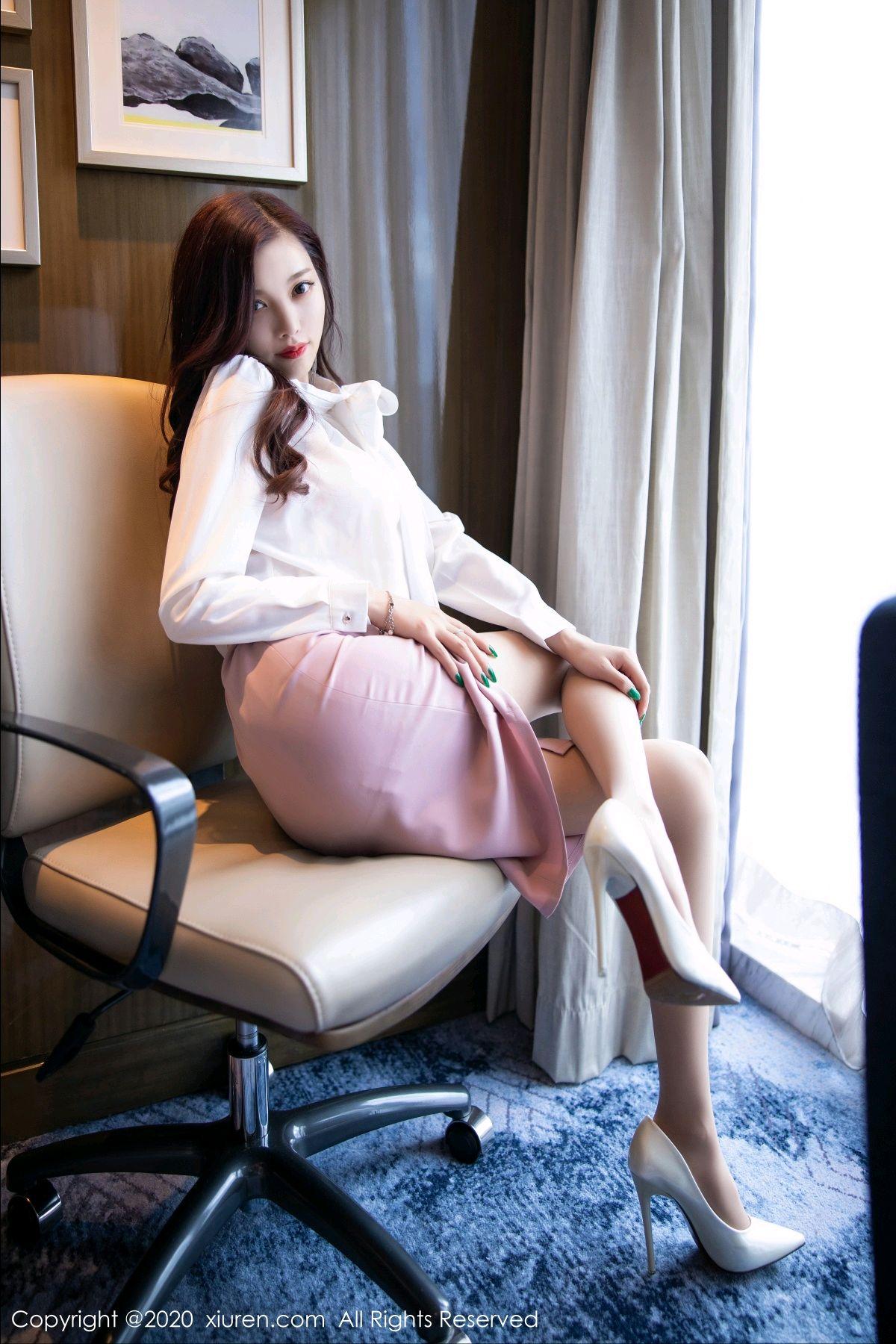 [XiuRen] Vol.2431 Yang Chen Chen 46P, Tall, Underwear, Uniform, Xiuren, Yang Chen Chen