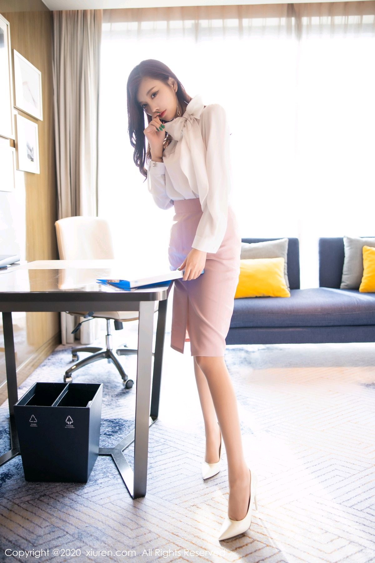 [XiuRen] Vol.2431 Yang Chen Chen 4P, Tall, Underwear, Uniform, Xiuren, Yang Chen Chen