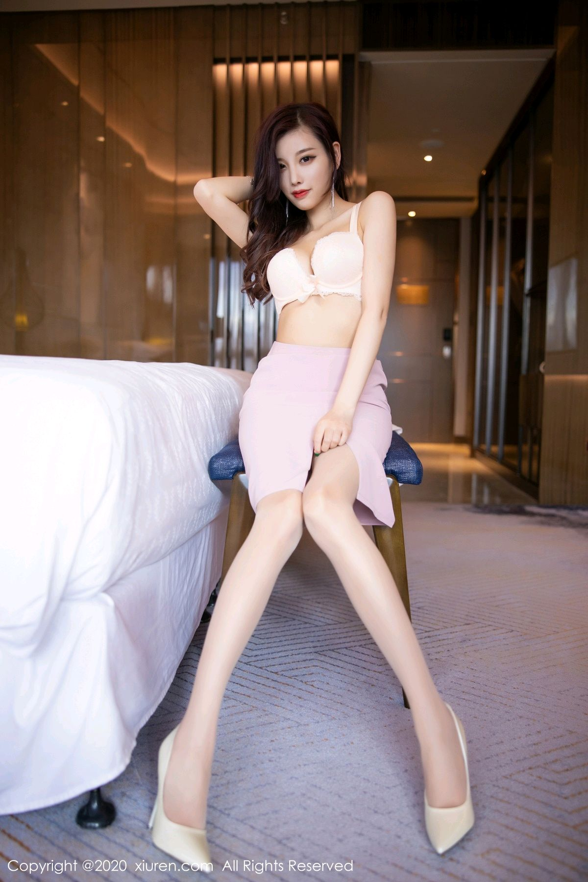 [XiuRen] Vol.2431 Yang Chen Chen 50P, Tall, Underwear, Uniform, Xiuren, Yang Chen Chen