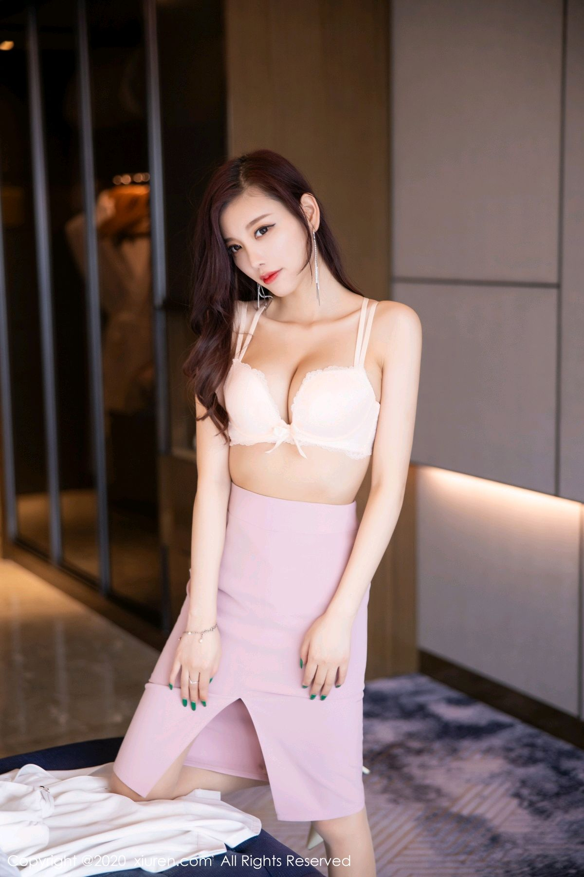 [XiuRen] Vol.2431 Yang Chen Chen 55P, Tall, Underwear, Uniform, Xiuren, Yang Chen Chen