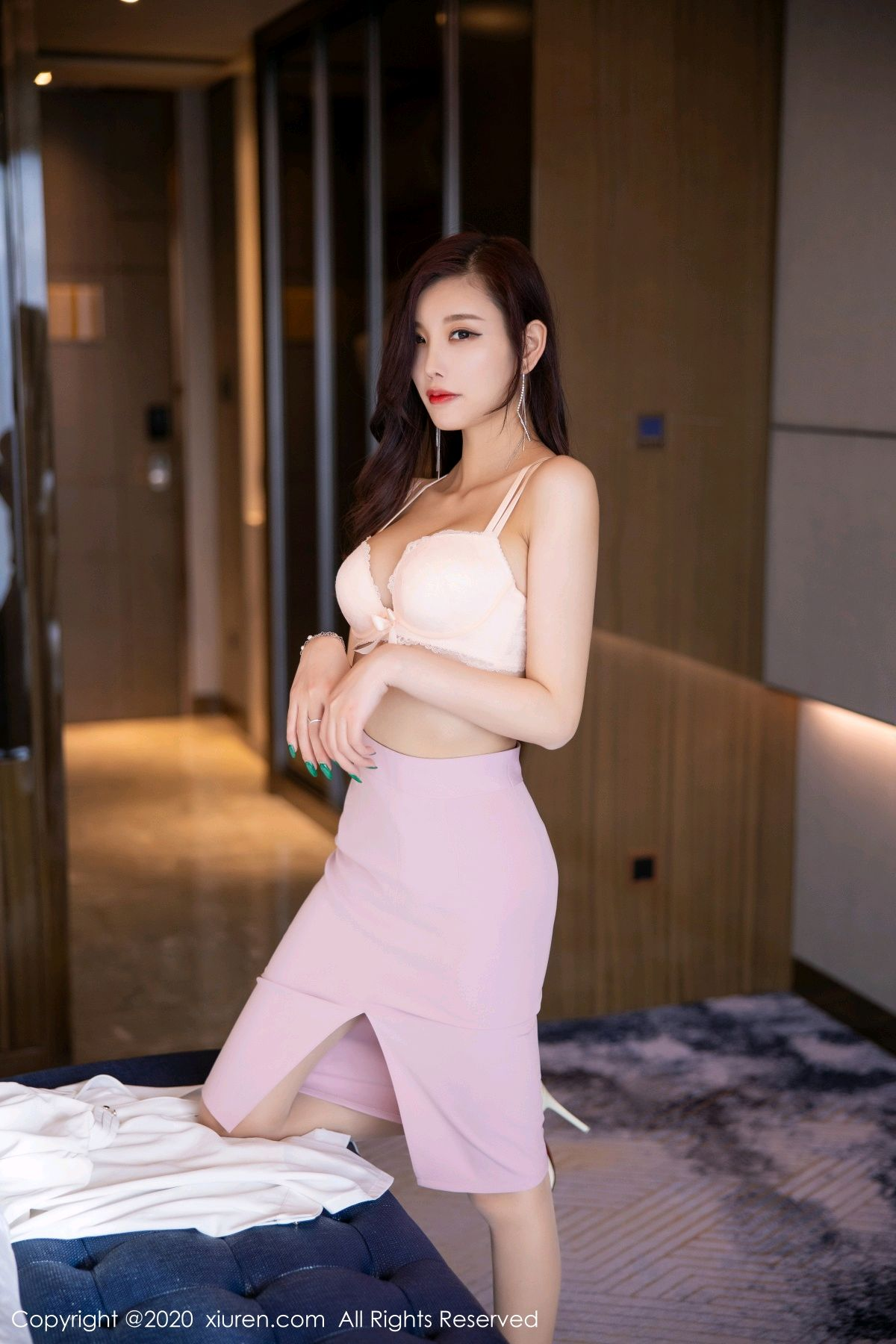 [XiuRen] Vol.2431 Yang Chen Chen 56P, Tall, Underwear, Uniform, Xiuren, Yang Chen Chen
