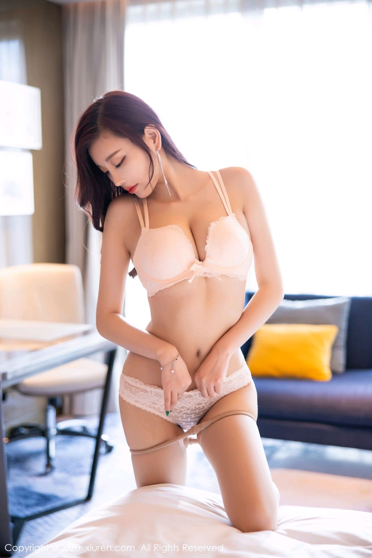 [XiuRen] Vol.2431 Yang Chen Chen 67P, Tall, Underwear, Uniform, Xiuren, Yang Chen Chen
