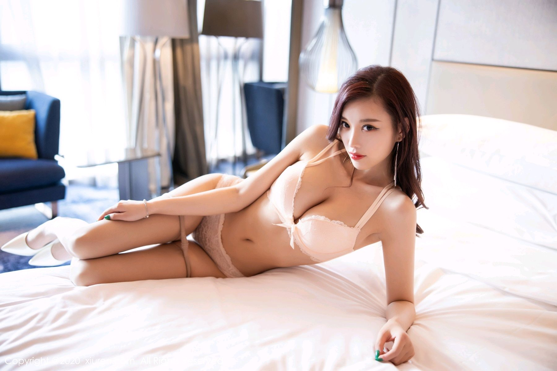 [XiuRen] Vol.2431 Yang Chen Chen 73P, Tall, Underwear, Uniform, Xiuren, Yang Chen Chen