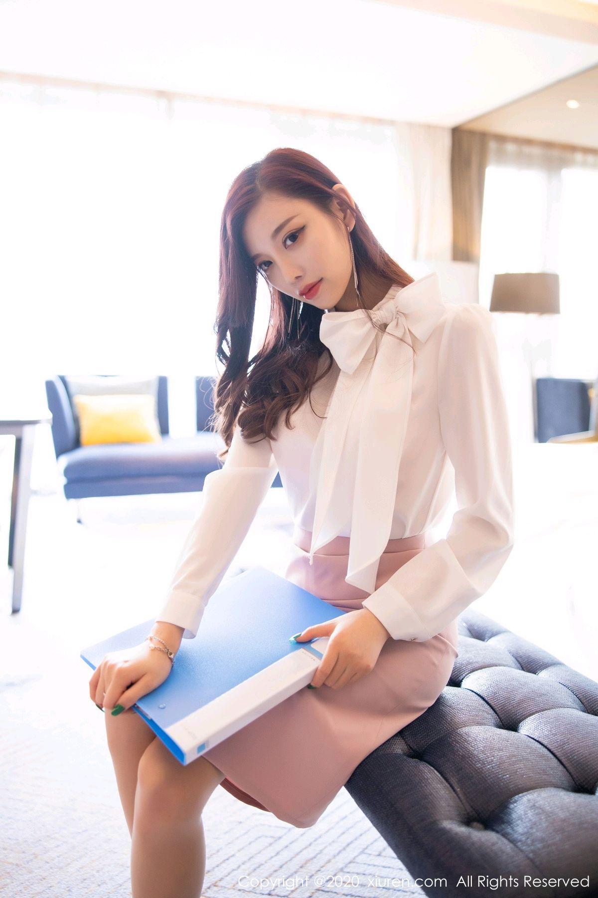 [XiuRen] Vol.2431 Yang Chen Chen 8P, Tall, Underwear, Uniform, Xiuren, Yang Chen Chen