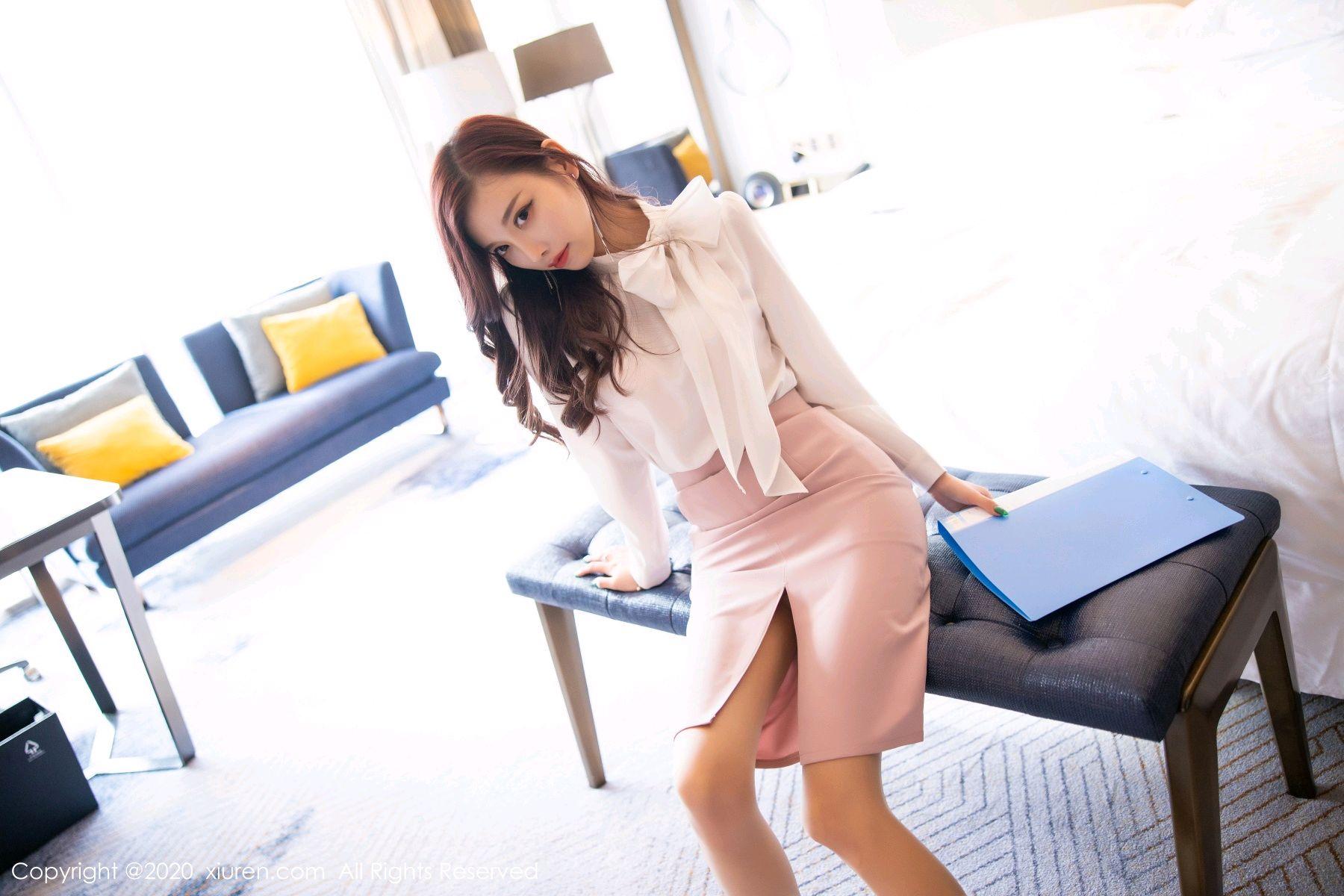 [XiuRen] Vol.2431 Yang Chen Chen 9P, Tall, Underwear, Uniform, Xiuren, Yang Chen Chen