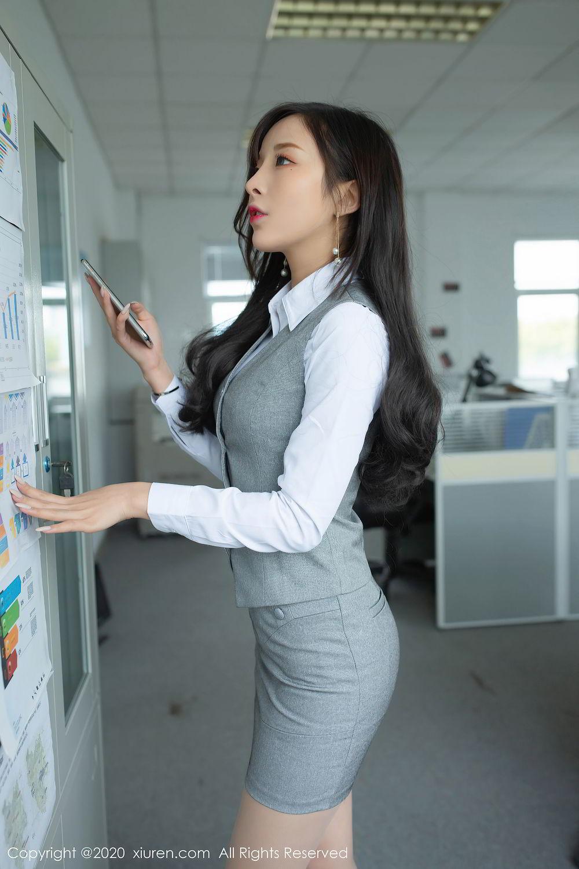 [XiuRen] Vol.2435 Chen Xiao Miao 12P, Chen Xiao Miao, Underwear, Uniform, Xiuren