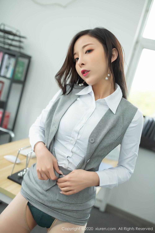[XiuRen] Vol.2435 Chen Xiao Miao 18P, Chen Xiao Miao, Underwear, Uniform, Xiuren