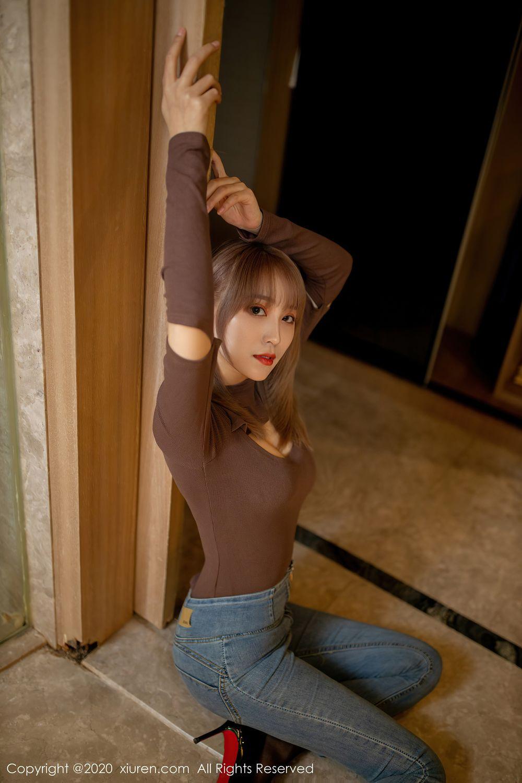 [XiuRen] Vol.2442 Zhou Mu Xi 11P, Black Silk, Underwear, Xiuren, Zhou Mu Xi