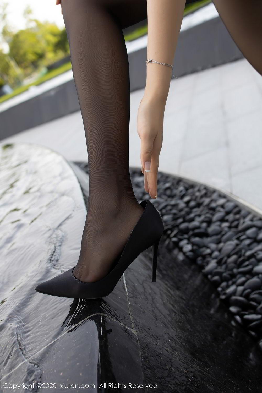 [XiuRen] Vol.2445 Zhi Zhi Booty 11P, Black Silk, Chen Zhi, Sexy, Street, Xiuren