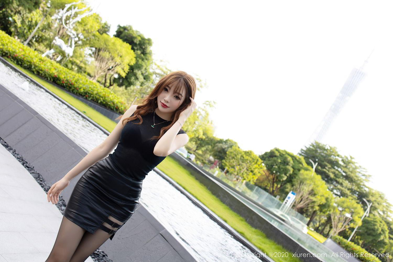 [XiuRen] Vol.2445 Zhi Zhi Booty 14P, Black Silk, Chen Zhi, Sexy, Street, Xiuren