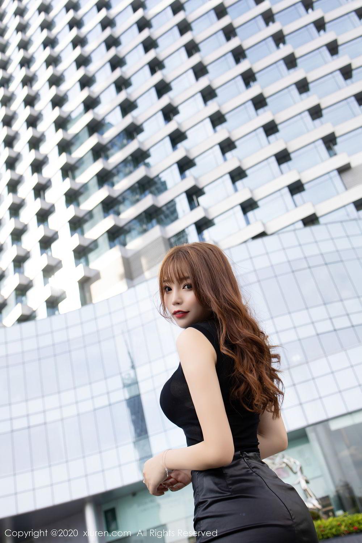 [XiuRen] Vol.2445 Zhi Zhi Booty 17P, Black Silk, Chen Zhi, Sexy, Street, Xiuren